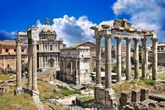 Romerska fora royaltyfria bilder