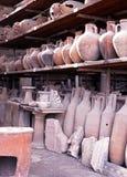 Romerska lagringskrus, Pompeii Arkivbilder