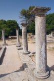 Romerska pelare i Glanumen. (Frankrike) arkivbilder