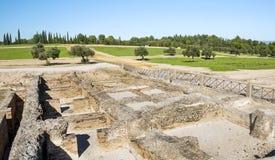 Romerskt archaeological återstår Royaltyfria Foton
