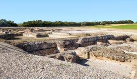 Romerskt archaeological återstår Fotografering för Bildbyråer