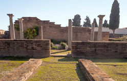 Romerskt archaeological återstår Royaltyfria Bilder