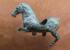 Romerskt diagram av den sårade snabbt växande hästen, Merida, Spanien Royaltyfria Bilder