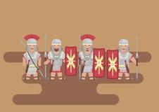 Romerskt diagram för legionsoldatlägenhet royaltyfri illustrationer