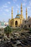 Romerskt fördärvar och moskén royaltyfria bilder