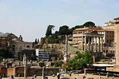 Romerskt fora Rome Royaltyfri Fotografi