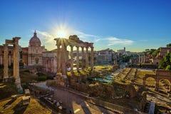 Romerskt fora - Rome - Italien fotografering för bildbyråer
