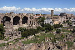 Romerskt fora - Rome - Italien royaltyfria bilder