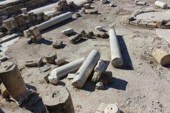Romerskt forum i Paphos, Cypern Arkivfoto