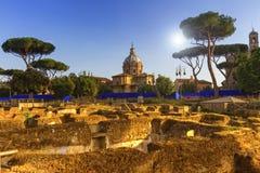 Romerskt forum, Roma, Italien arkivfoton