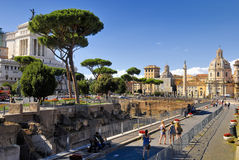 ROMERSKT FORUM, ROME, ITALY-SEPTEMBER 24 Royaltyfria Foton