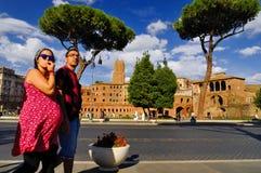 ROMERSKT FORUM, ROME, ITALY-SEPTEMBER 24 Arkivfoton