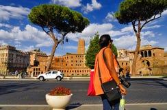 ROMERSKT FORUM, ROME, ITALY-SEPTEMBER 24 Arkivfoto