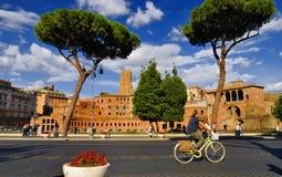 ROMERSKT FORUM, ROME, ITALY-SEPTEMBER 24 Fotografering för Bildbyråer