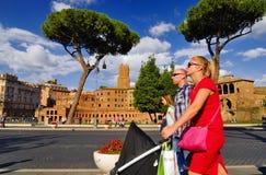 ROMERSKT FORUM, ROME, ITALY-SEPTEMBER 24 Royaltyfria Bilder