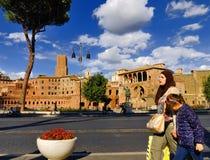 ROMERSKT FORUM, ROME, ITALY-SEPTEMBER 24 Royaltyfri Bild