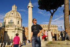 ROMERSKT FORUM, ROME, ITALY-SEPTEMBER 24 Royaltyfri Fotografi