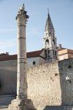 Romerskt forum Zadar, Kroatien Arkivbilder