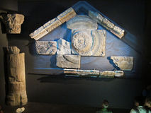 Romerskt fragment i museet av london Royaltyfria Foton