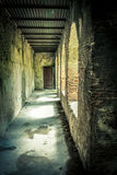 Romerskt hus i Pompeii Arkivbild