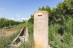 Romerskt markera för milstolpe via Augusta royaltyfri bild