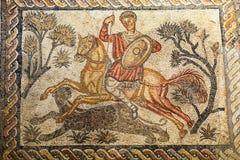 Romerskt mosaikfragment Arkivfoton