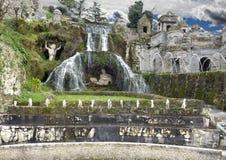 The Rometta Fountain in Villa d`Este Stock Images
