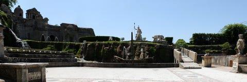 Rometta Fountain in Villa d'Este in Tivoli, Italy Stock Photos