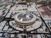 Romexpo - vista aerea fotografia stock libera da diritti