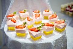 Romig dessert royalty-vrije stock afbeeldingen