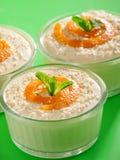 Romig Tahini-Dessert Stock Foto's