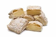 Romige cakes voor brakfast. Stock Foto