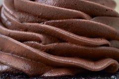 Romige chocolademousse royalty-vrije stock fotografie