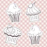 Romige cupcake Stock Foto's
