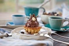 Romige Cupcakes Royalty-vrije Stock Afbeeldingen