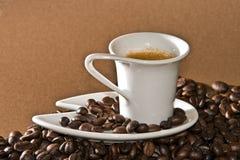 Romige espresso Royalty-vrije Stock Afbeeldingen