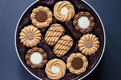Romige gemengde koekjes Stock Foto