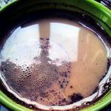 Romige koffie stock afbeelding