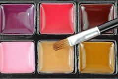 Romige Lipgloss met Borstel Royalty-vrije Stock Fotografie