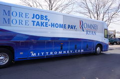 Romney Campaign Bus Stock Images
