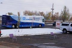 Romney Kampagnen-Bus Stockfoto