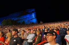 Romney Red Rocks Crowd Stock Images