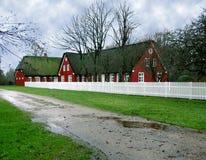 Romo Grasscholle-Dach-Bauernhaus Lizenzfreie Stockfotografie