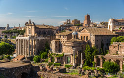 Romos Forumas as seen from Palatine Hill, Rome, Italy Stock Photography