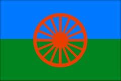 Romowie bandery Fotografia Royalty Free