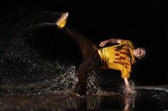 Rompa-dans sull'acqua Fotografia Stock Libera da Diritti