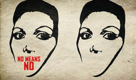 Rompa la violenza di arresto di silenzio contro la donna fotografie stock libere da diritti