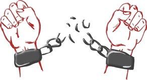 Rompa las cadenas Foto de archivo libre de regalías