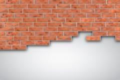 Rompa un muro di mattoni illustrazione vettoriale