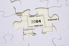 Rompecabezas 2 del impuesto imágenes de archivo libres de regalías
